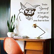 Vinyl Wandtattoo Zitat Train Yourself Let Go of