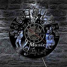 Vinyl-Wanduhr/Musikinstrumententyp Hohle Vinyl-Uhr