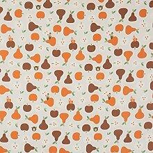 vinylla Apple und Pear Vinyl Beschichtete Baumwolle Einfach abwischbares Wachstuch Tischdecke, 140 x 140 cm