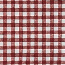 Vinylla Gingham Kariert Rot Vinyl Beschichtete Baumwolle Einfach abwischbares Wachstuch Tischdecke, Round(Dia.140 cm)