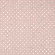 vinylla Polka Dot Pink Vinyl Beschichtete Baumwolle Einfach abwischbares Wachstuch Tischdecke, rose, 140 x 180 cm
