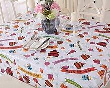 VINYLLA Tischdecke, Wachstuch, PVC, leicht