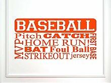 vinylsay 1211. baseball-g. Orange 33x