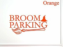 vinylsay Parking Halloween Wand Aufkleber, Gloss Orange, 44-Inch x 22-Inch