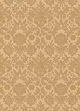Vinyltapete Barock Floral Textil gold Metallic