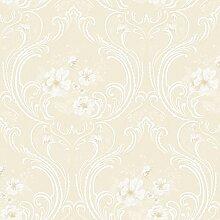 Vinyltapete Tapete Barock Retro # beige/creme #