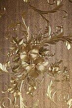 Vinyltapete Tapete Barock Retro # braun/gold #