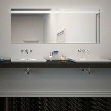 Viola Design - NEON BADSPIEGEL mit Beleuchtung - Made in Germany + WaschbeckenBeleuchtung - (B) 60cm x (H) 90cm