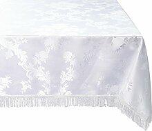 Violet Linen Majestic Damast-Tischdecke,