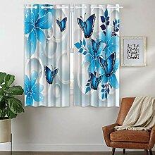 Violetpos 160 x 110 cm Blauer Schmetterling