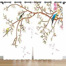 Violetpos 160 x 110 cm Bunt Aquarell Papagei Blume