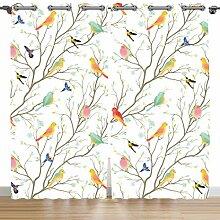 Violetpos 160 x 110 cm Frühling Zweig Vogel
