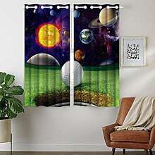 Violetpos 160 x 110 cm Golf Galaxie Planet Mars