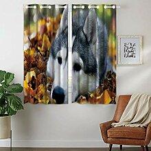 Violetpos 160 x 110 cm Lazy Husky Herbstlaub Wald