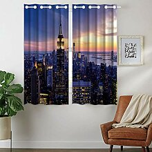 Violetpos 160 x 110 cm New York Nachtansicht