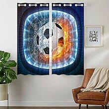 Violetpos 160 x 110 cm Sport Fußball auf Feuer