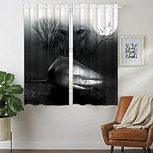 Violetpos 160 x 110 cm Wilder Hai Wolf Mondlicht