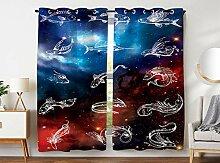 Violetpos 180 x 140 cm Fossil Fisch Galaxie
