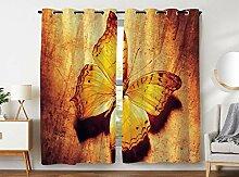 Violetpos 180 x 140 cm Orange Schmetterling