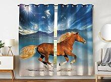 Violetpos 180 x 140 cm Pferd Läuft Unter Der