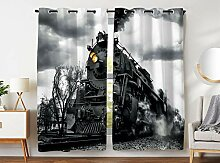 Violetpos 180 x 140 cm Retro Vintage Lokomotive