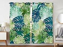 Violetpos 245 x 140 cm Grüne Tropische Pflanze