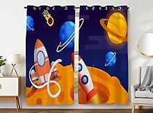 Violetpos 245 x 140 cm Karikatur Weltraum