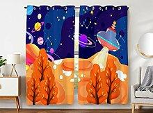 Violetpos 245 x 140 cm Karikatur Weltraum UFO