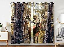 Violetpos 245 x 140 cm Urwald Kiefer Hirsch Elch