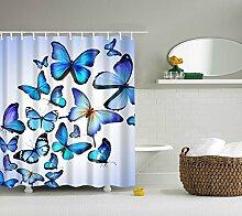 Violetpos Duschvorhänge blaue Schmetterlinge