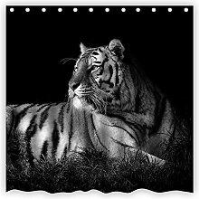 Violetpos Duschvorhänge Schwarz-Weiß-Tiger