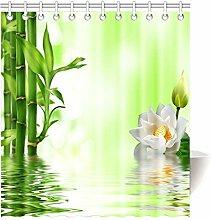 Violetpos Duschvorhang Bambus Design Hochwertige