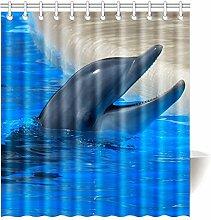 Violetpos Duschvorhang Delfin Hochwertige Qualität Badezimmer 160 x 180 cm