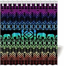 Violetpos Duschvorhang Elefant Retro Dekor Hochwertige Qualität Badezimmer 120 x 180 cm