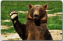 Violetpos Fußmatte 40 x 60 cm Begrüßen Sie den Bären Fussmatte Home Innen & Außen Schmutzmatte Ma