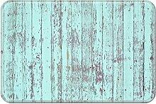 Violetpos Fußmatte Türkis Holz Fußmatten Mat
