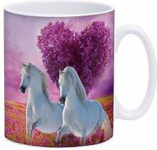 Violetpos Kaffee-Tasse Motivdruck im angesagten