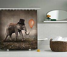 Violetpos Lustiger Elefant Duschvorhang Badezimmer
