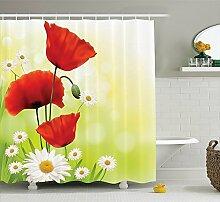 Violetpos Mohn Duschvorhang Badezimmer Dekorative 160 x 180 cm