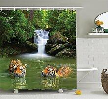 Violetpos Sibirische Tiger im Wasser Wasserfall