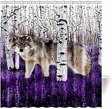 Violetpos Top Qualität Anti-Schimmel Duschvorhang