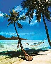 Violetpos Tropische Strandhängematte Duschvorhang