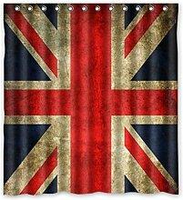 Violetpos Union Jack Flagge Duschvorhang Badezimmer Dekorative 180 x 180 cm