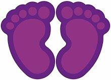 (Violett) 10 Stück Fußbodenaufkleber