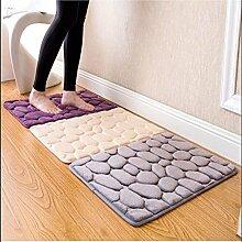 Violett: 40x 60cm Teppich Dusche Boden Pebble Flanell Badezimmer Bad Teppich Schaumstoff Pad Matte