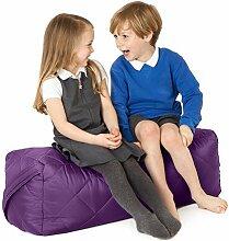 Violett, gesteppte, wasserabweisende rechteckig Sitzsack