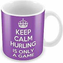 Violett Keep Calm and dem ist nur ein Spiel Becher Kaffee Tasse Geschenkidee Geschenk SP...