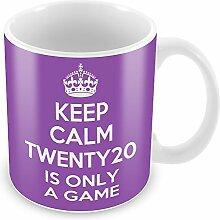 Violett Keep Calm and Twenty20ist nur ein Spiel Becher Kaffee Tasse Geschenkidee Geschenk S...