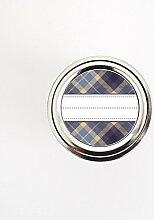 Violett und braun Plaid Muster Canning Jar