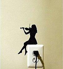 Violine Mädchen Schalter Aufkleber Dekoration